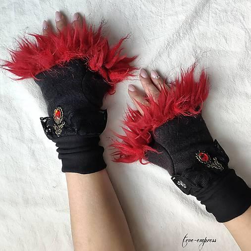 Gotické zimné rukavičky