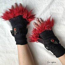 Rukavice - Gotické zimné rukavičky - 11267750_