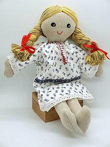 Bábiky - handrová  folklórna bábika Dorotka (1) - 11266357_