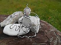 Dekorácie - ,,vianočný anjel strážny,,RUžENíN,KRIšTáľ - 11265781_