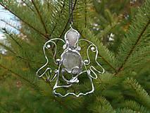 Dekorácie - ,,vianočný anjel strážny,,RUžENíN,KRIšTáľ - 11265784_