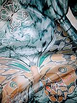 Šály - Hodvábny šál - motýle v búrke  - 11263507_