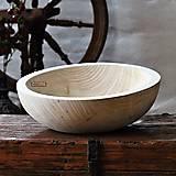 Nádoby - Veľká drevená lipová misa natural - 11264601_