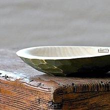 Nádoby - Drevená lipová miska olivová zdobená (malá) - 11265777_