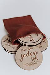 Detské doplnky - Drevené mílnikové kartičky - 11266685_