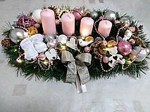 """Svietidlá a sviečky - Adventný svietnik LED """"ružový lux"""" - 11266434_"""