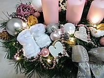 """Svietidlá a sviečky - Adventný svietnik LED """"ružový lux"""" - 11266435_"""