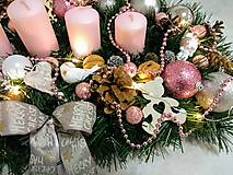 """Svietidlá a sviečky - Adventný svietnik LED """"ružový lux"""" - 11266436_"""