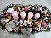 """Svietidlá a sviečky - Adventný svietnik LED """"ružový lux"""" - 11266438_"""