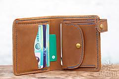 Peňaženky - Menšia kožená peňaženka IX. - 11265109_