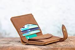 Peňaženky - Menšia kožená peňaženka IX. - 11265111_