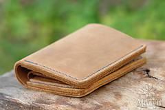 Peňaženky - Menšia kožená peňaženka IX. - 11265192_