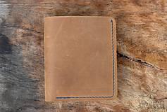 Peňaženky - Menšia kožená peňaženka IX. - 11265193_