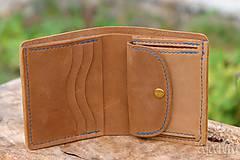 Peňaženky - Menšia kožená peňaženka IX. - 11265194_