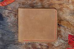 Tašky - Kožená peňaženka VI. hnedá - 11265302_