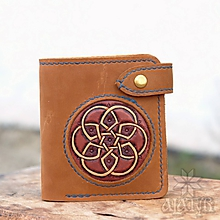 Peňaženky - Menšia kožená peňaženka IX. - 11265104_