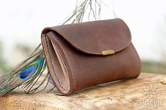 Peňaženky - Malá kožená peňaženka III. - 11265555_