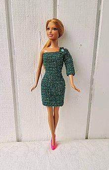 Hračky - Háčkované lurexové šaty pre Barbie - 11267820_
