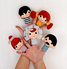 Hračky - Sada maňušiek na prst - Finger Family - na objednávku - 11263648_