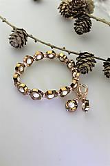 Sady šperkov - hematit a perly náramok a náušnice - 11267007_