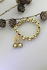 Sady šperkov - hematit s perlou náramok a náušnice - 11267270_