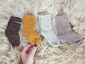 Topánočky - Pletené vlnené ponožky - 11264031_