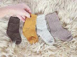 Topánočky - Pletené vlnené ponožky - 11264041_