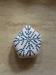 Dekorácie - Kameň - snehová vločka - 11265315_