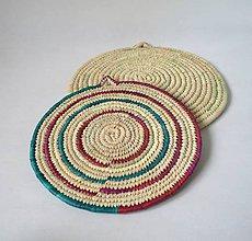 Pomôcky - Africký závesný kruh na stenu / podložka (priemer 34 cm - Červená) - 11263778_