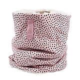 Detské doplnky - Zimný detský tunel-irregular dots pink - 11267852_