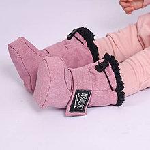 Detské oblečenie - Detské softshell topánočky - ružová - 11267894_