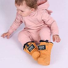 Detské oblečenie - Detské softshell topánočky - okrová - 11267896_
