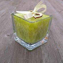 Svietidlá a sviečky - Palmová sviečka s dreveným knôtom .:citrónová tráva:. - 11263591_