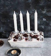 Dekorácie - Piškotovník  adventný zmrznutý  s hruškami - 11265901_