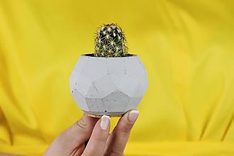 Nádoby - Betónový kvetináč Rhombico (S - šedý) - 11263827_