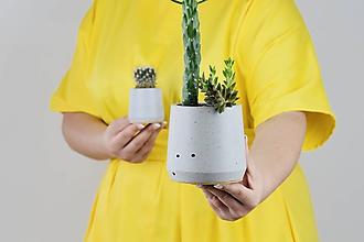 Nádoby - Betónový kvetináč - Cylinder (L) - 11264142_