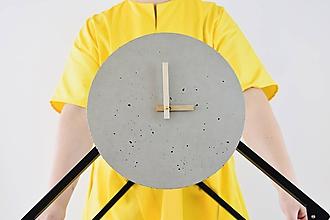 Hodiny - Betónové hodiny - PURE 30 (verzia 2) - 11264314_