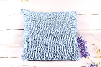 Úžitkový textil - Modrá obliečka na vankúš - 11265108_
