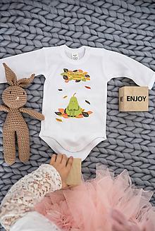 Detské oblečenie - Detské body - Hruška - 11263894_