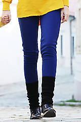 Nohavice - dámske zateplené turbanové legíny QUEEN BLUE - 11266977_