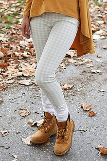 Nohavice - dámske zateplené turbanové legíny CUBE - 11267010_