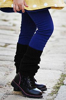 Nohavice - zateplené turbanové legíny QUEEN BLUE - 11267285_