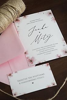 """Papiernictvo - Svadobné oznámenie """"čerešňový kvet"""" ❤ - 11263292_"""