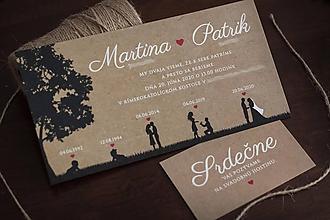 """Papiernictvo - Svadobné oznámenie s hnedým podkladom """"Príbeh lásky""""   ❤ - 11263371_"""