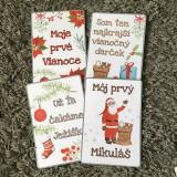 Detské doplnky - Miľníkové kartičky zimné (vianočné) 10 ks (A5) - 11265380_
