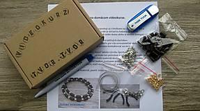 Kurzy - Domáci VIDEOKURZ aj s materiálom - vyrob si pánsky drevený náhrdelník - 11263833_