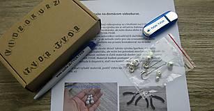 Kurzy - Domáci VIDEOKURZ aj s materiálom - vyrob si perlové náušnice - 11263845_
