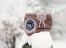 Detské doplnky - Sněží na veverku béžovošedý - holčičí - 11267602_