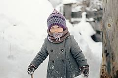 Detské doplnky - Sněží na veverku béžovošedý - holčičí - 11267603_