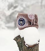 Detské doplnky - Sněží na veverku béžovošedý - holčičí - 11267608_